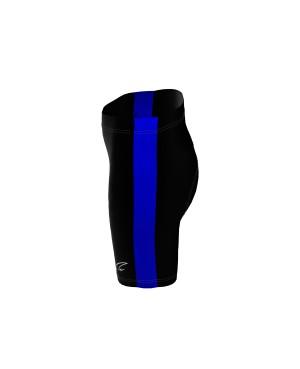 Coloured Side Stripe - Short Tights black/royal