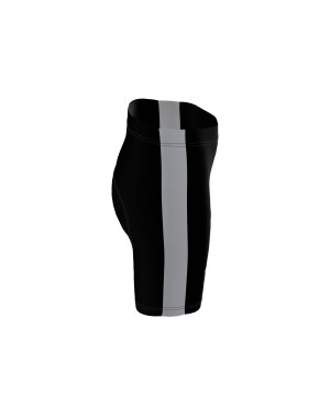 Coloured Side Stripe - Short Tights black/white