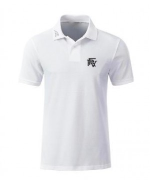 Premium Organic Polo - Man white