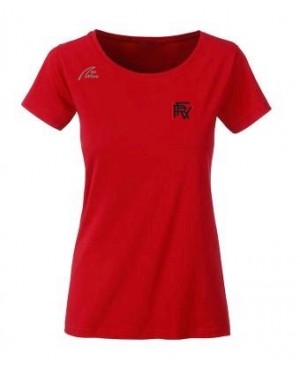 Premium Organic Shirt - Lady red