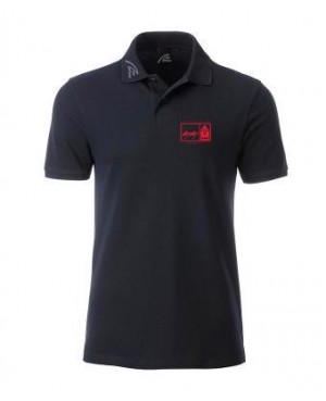 Premium Organic Polo - Man black