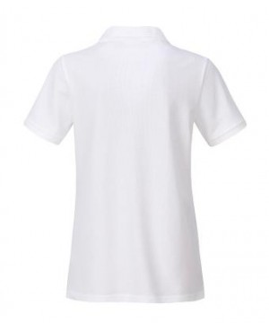 Premium Organic Polo - Lady white