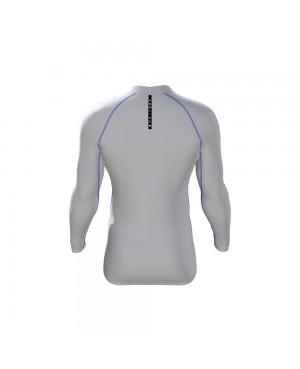 Pro Shirt - Longsleeve white/schwarz