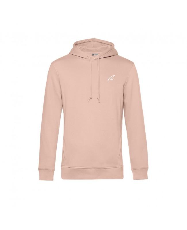 Organic Sport Hoodie Man rose - New Wave Sportswear