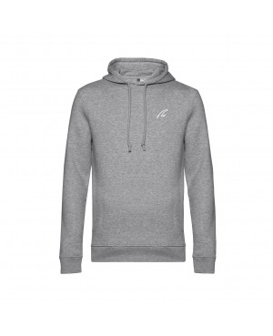 Organic Sport Hoodie Man grey - New Wave Sportswear