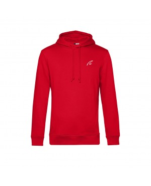 Organic Sport Hoodie Man red - New Wave Sportswear