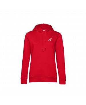 Organic Sport Hoodie Lady red - New Wave Sportswear