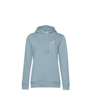 Organic Sport Hoodie Lady blue fog - New Wave Sportswear