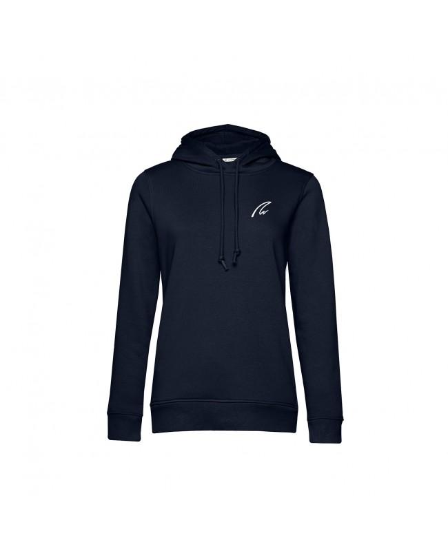 Organic Sport Hoodie Lady navy - New Wave Sportswear
