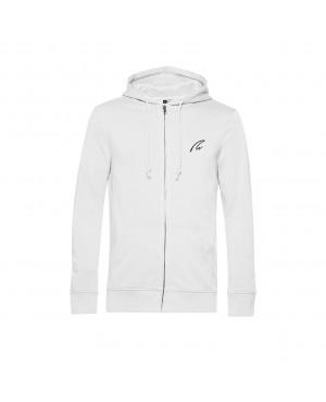 Organic Zip Hoodie - Man white