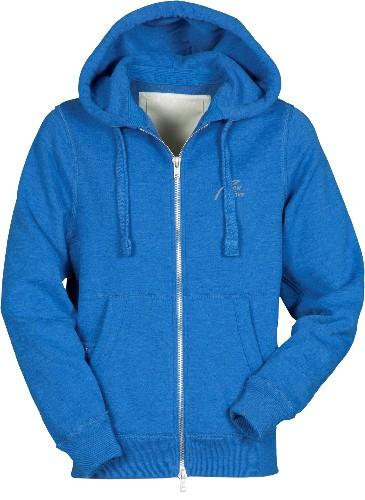 Vintage Full Zip Hoodie-königsblau meliert