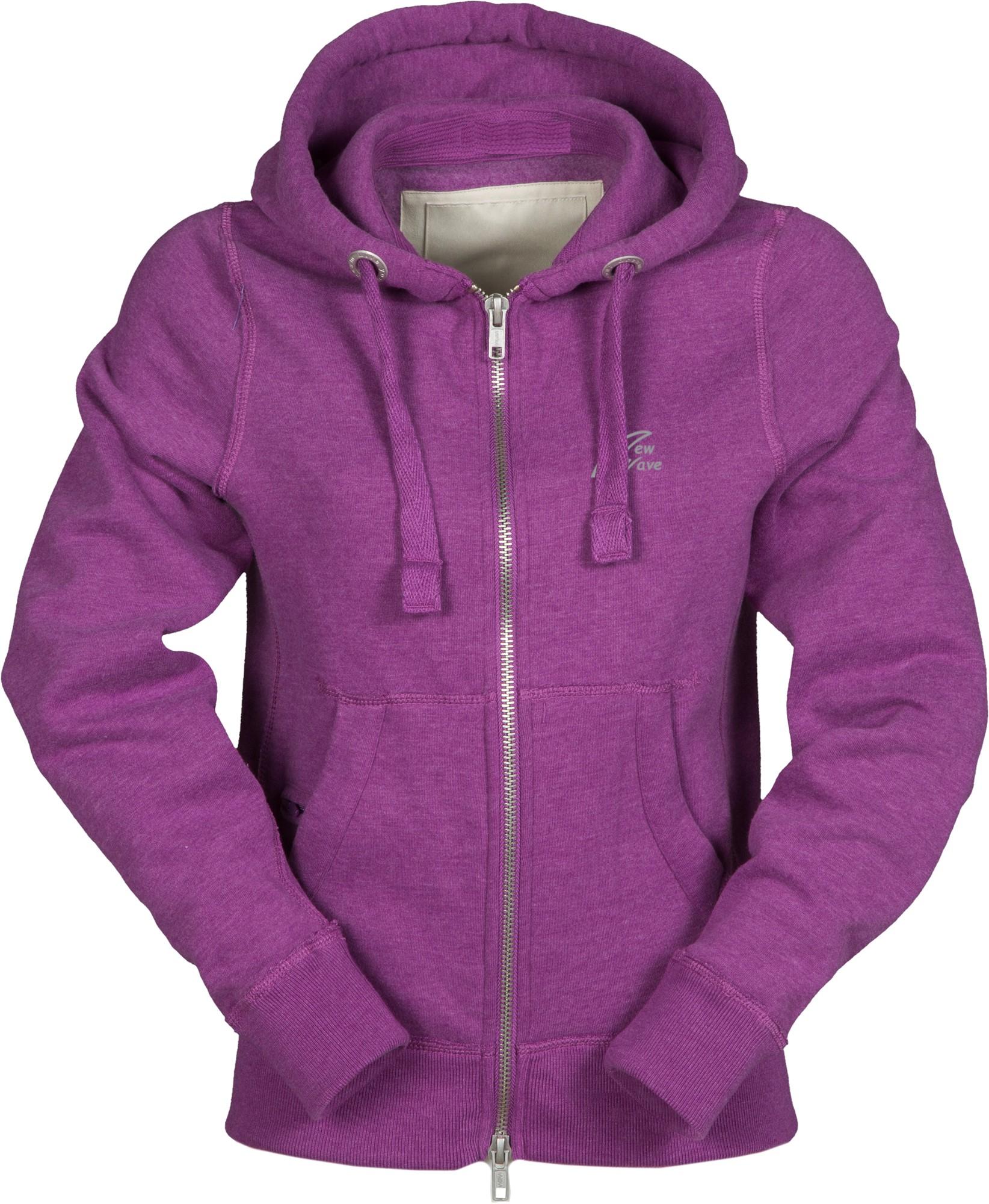 Vintage Full Zip Hoodie-summer violett meliert