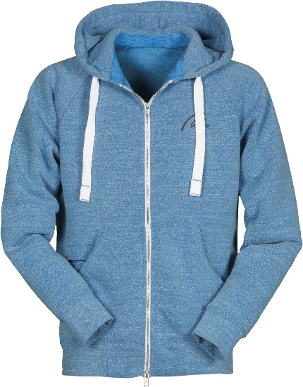 Soft Fleece Full Zip Hoodie-königsblau meliert