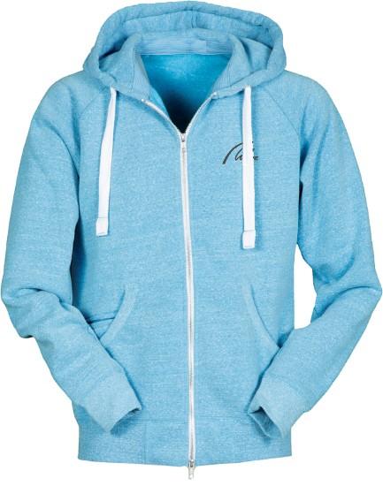 Soft Fleece Full Zip Hoodie-zuckerblau meliert