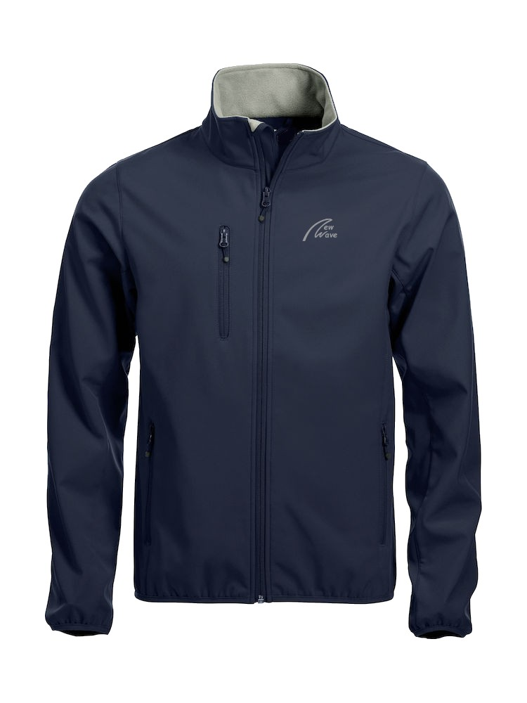 Basic Softshell-marine blau