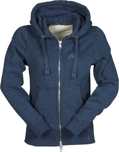 Vintage Full Zip Hoodie-denim blau meliert