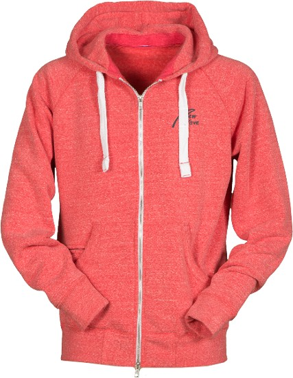 Soft Fleece Full Zip Hoodie-rot meliert