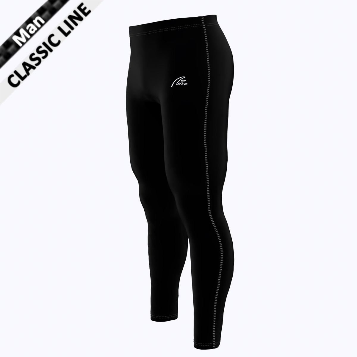 Coloured Seam Tight - Man weiß