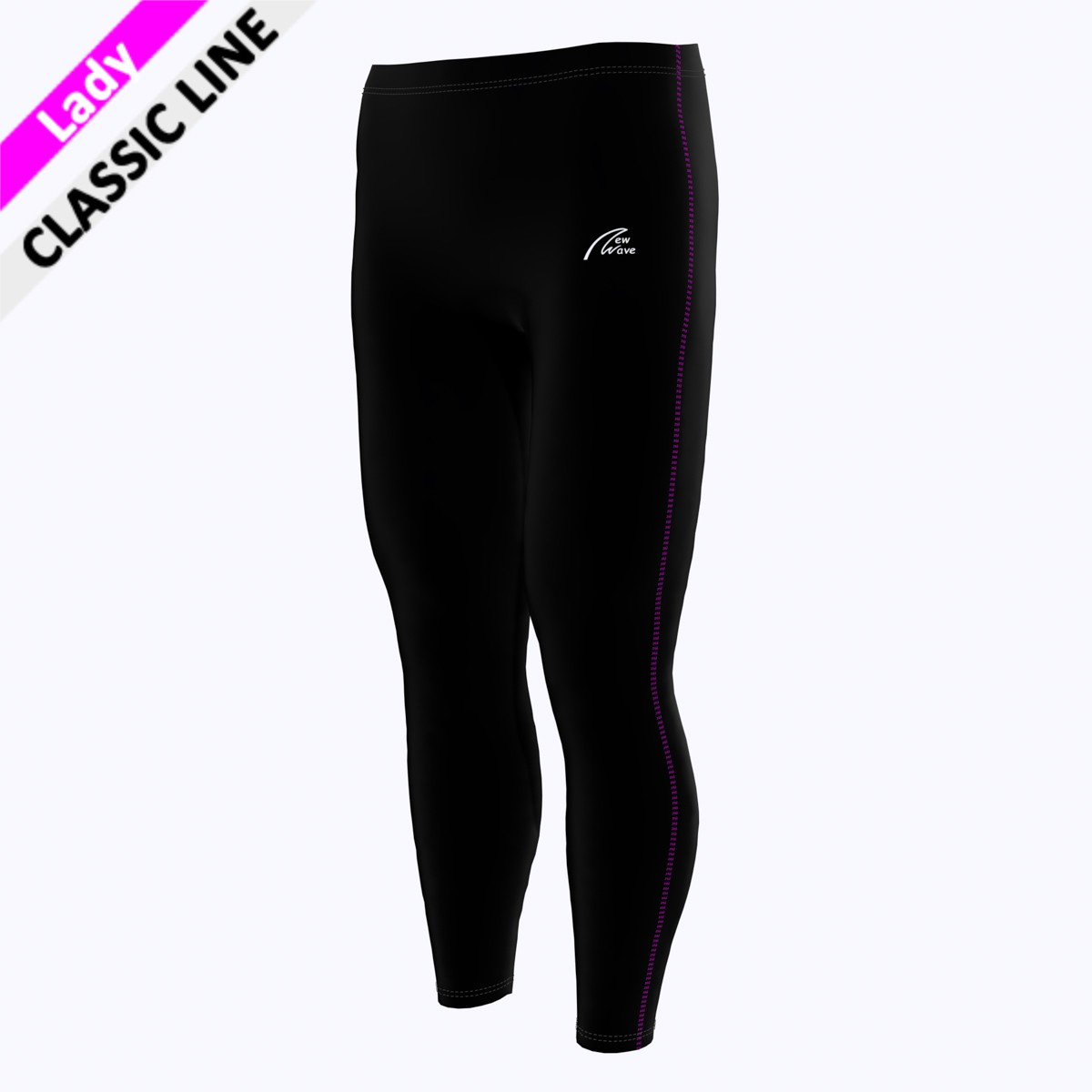 Coloured Seam Tight - pink F  (Hose - schwarz / Seitennaht - pink)