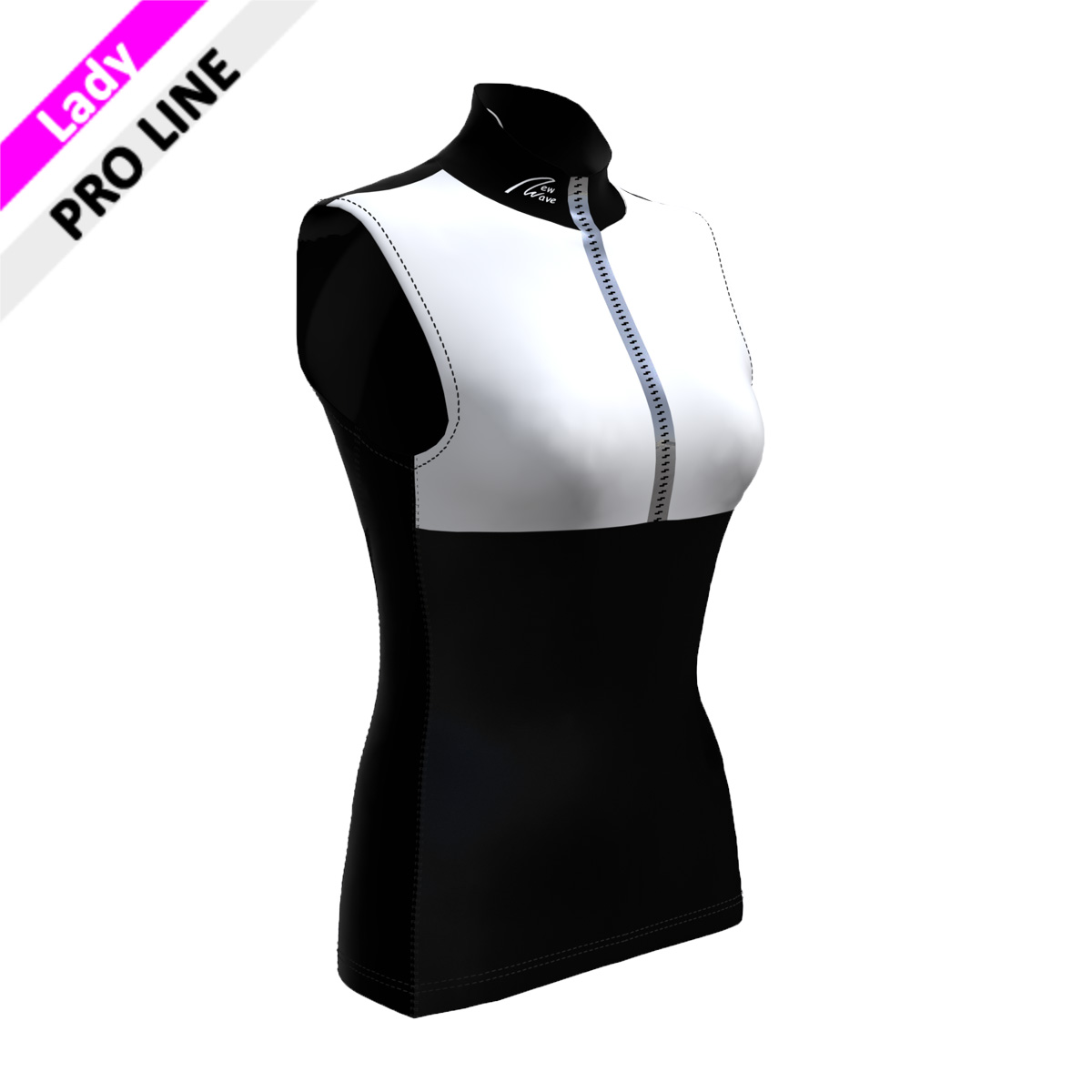 Pro Vest - Lady schwarz/weiß