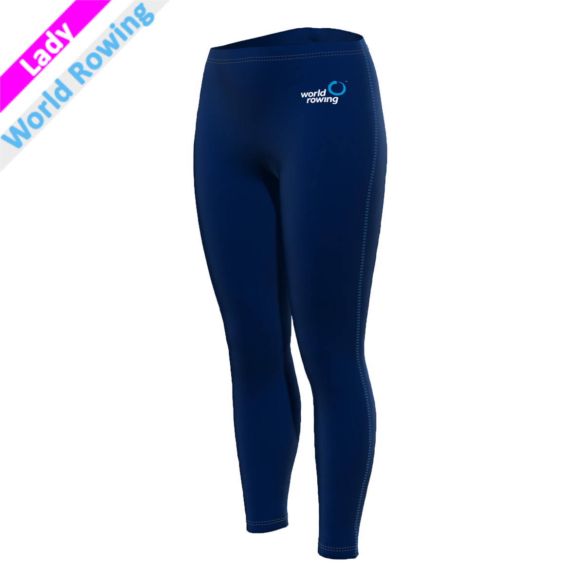 World Rowing Tights - marine blau F