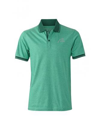 NW Style Polo - Man green/melange