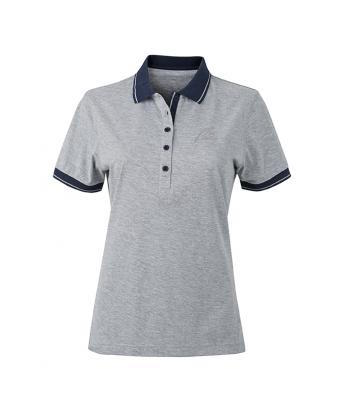 NW Style Polo - Lady grey-heather/navy