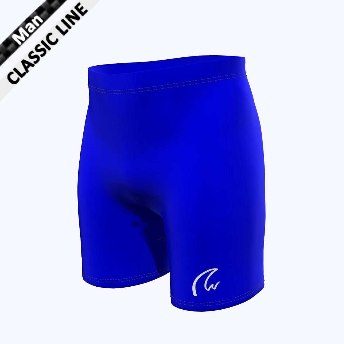 Plain Short Tight - Man royal blau
