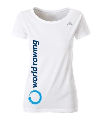 World Rowing Organic Lady - weiß  WR Logo blau 30cm lang rechte Seite