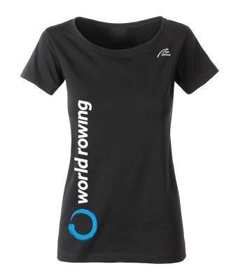 World Rowing Organic Lady - schwarz  WR Logo weiß 30cm lang rechte Seite