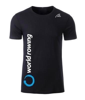 World Rowing Organic Man - schwarz  WR Logo weiß 38cm lang rechte Seite, NW Logo weiß oben lins