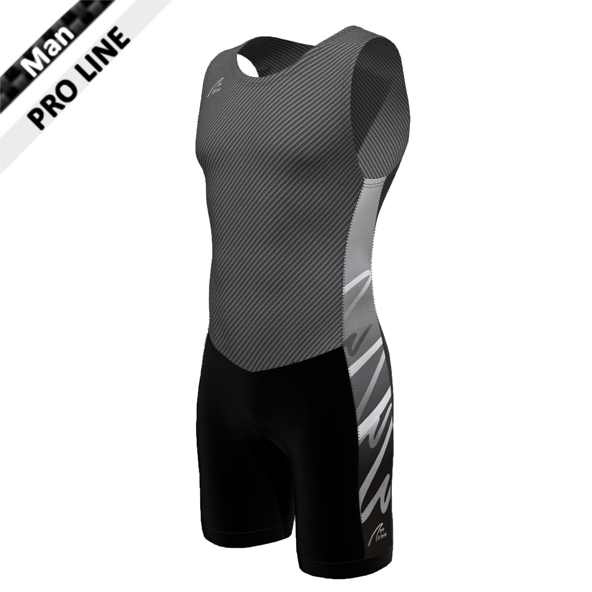 Pro Suit - Man carbon/grau  (Body - carbon / Hose - schwarz / Seitenstreifen - NW grau verlaufend)