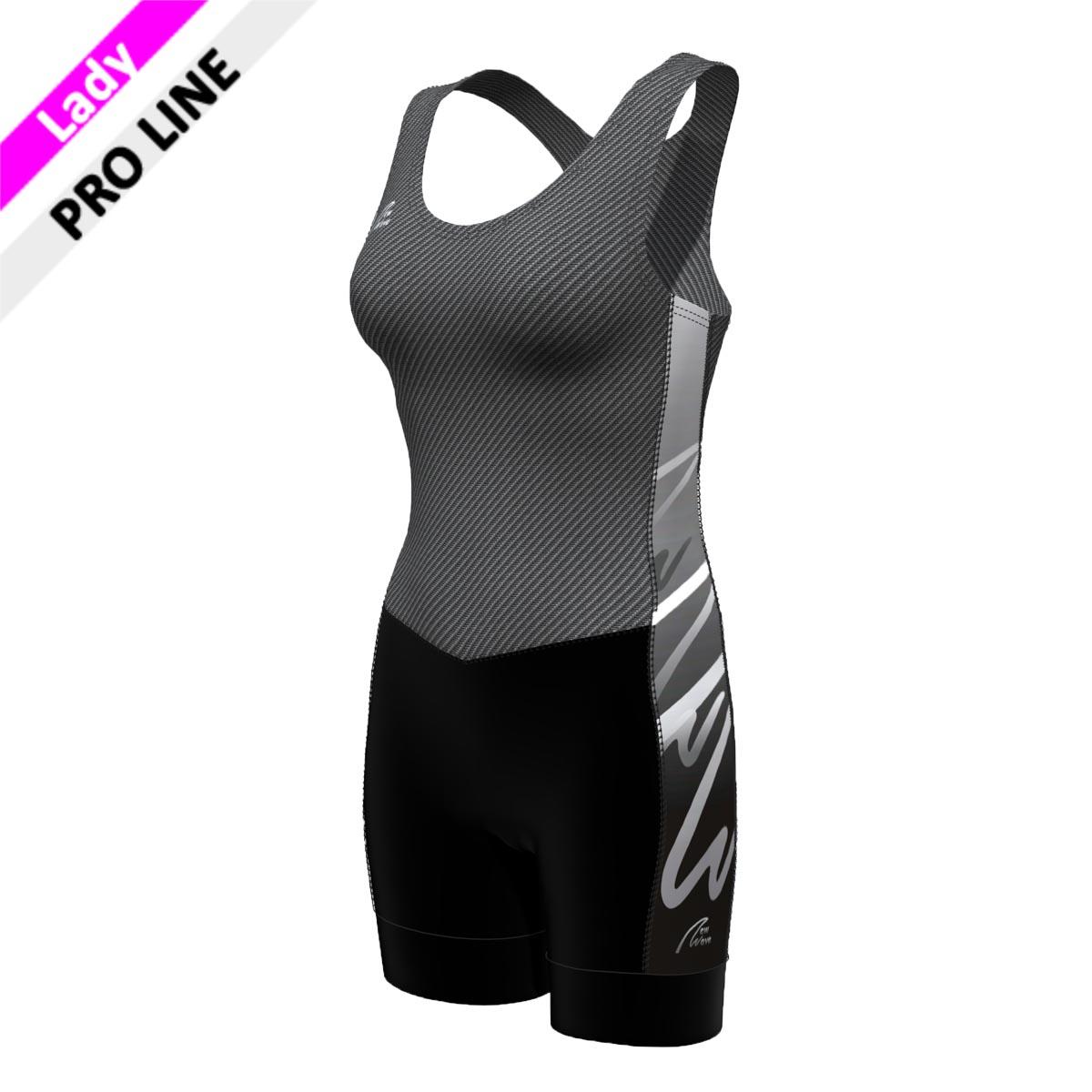 Pro Suit - Lady carbon/grau (Body - carbon/ Hose - schwarz/ Seitenstreifen - NW grau verlaufend)