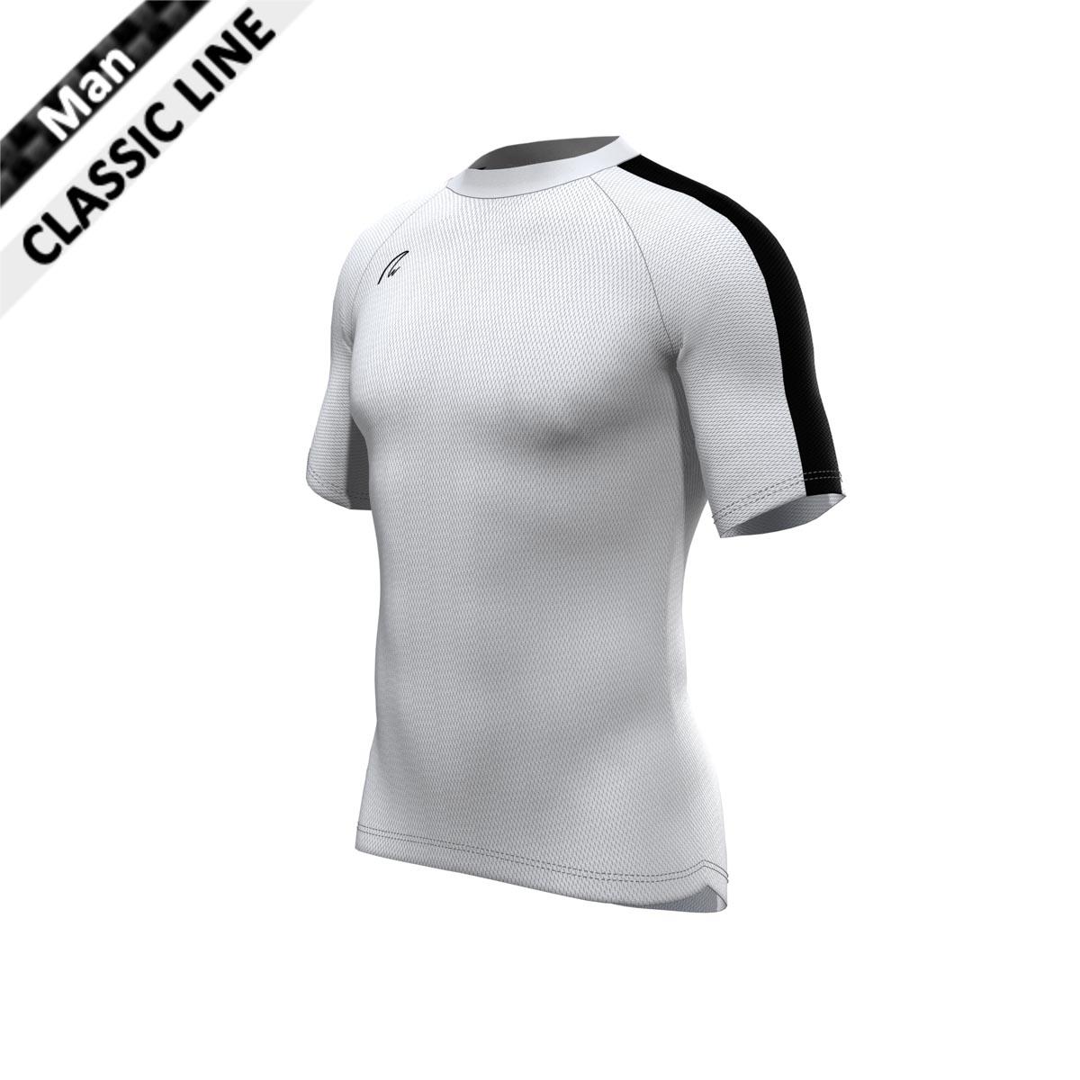 CoolMax Shirt - Man weiss-schwarz