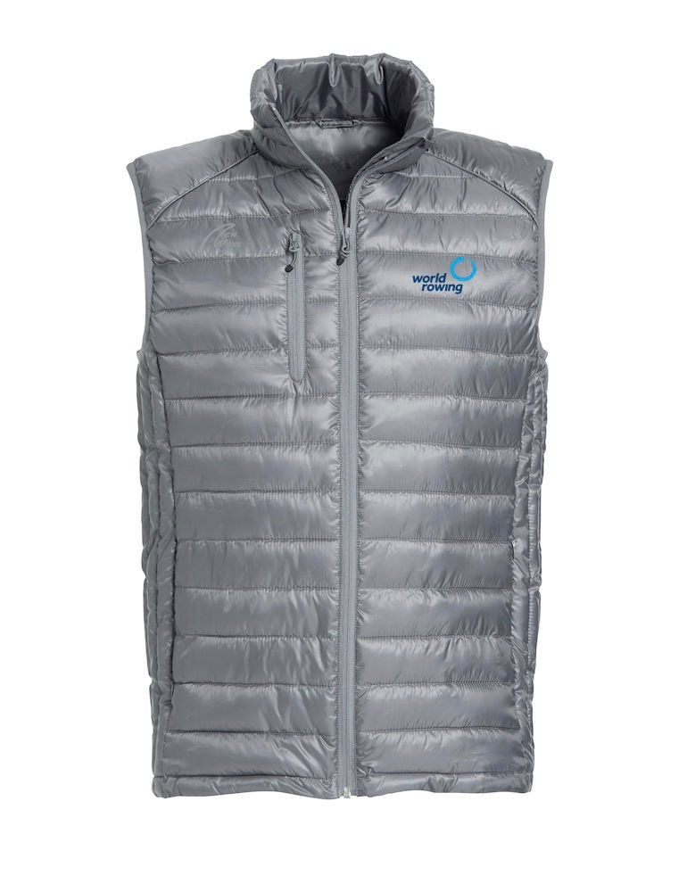 Superlight Padded Vest - Man grey WR; WR Logo blau gestickt, NW Logo grau