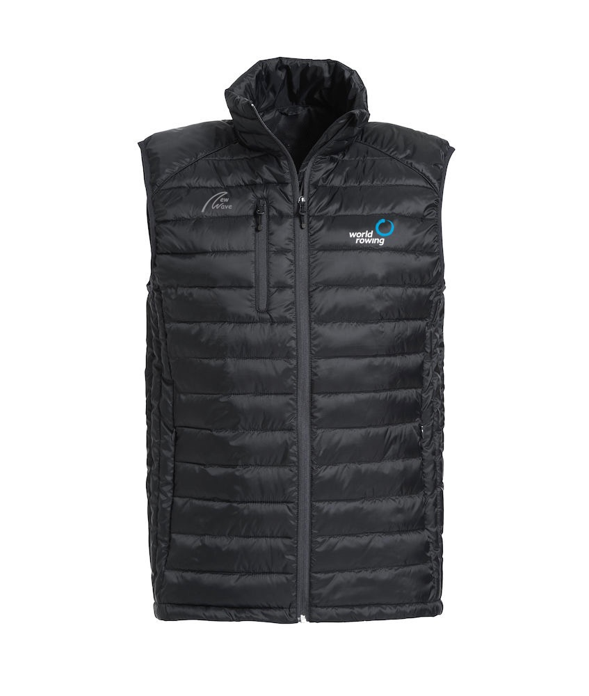 Superlight Padded Vest - Man black WR; WR Logo weiß gestickt, NW Logo grau