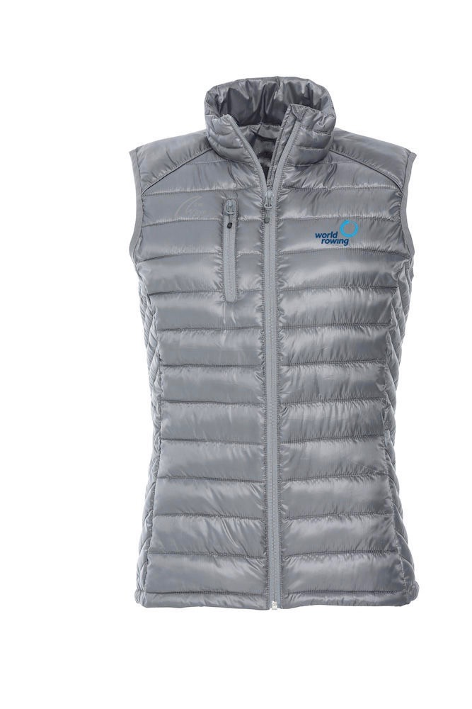 Superlight Padded Vest - Lady grey WR; WR Logo blau gestickt, NW Logo grau