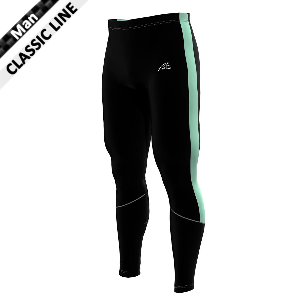 Coloured Side Stripe Tights - schwarz/mint; Hose schwarz, Seitenstreifen mint