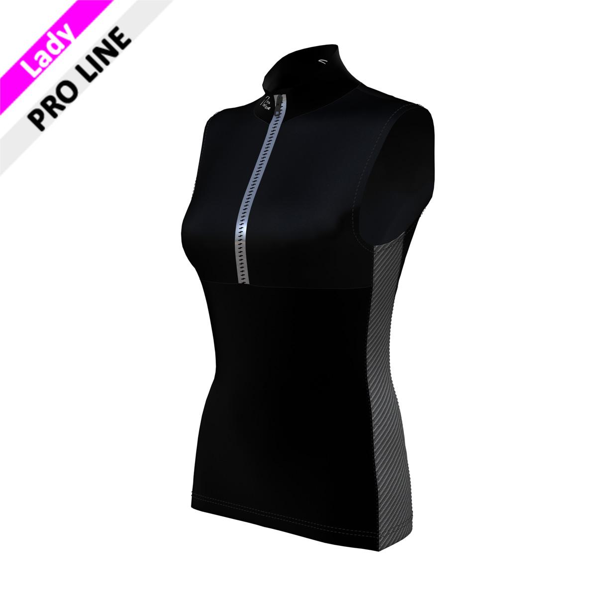 Pro Vest Lady - Black/Carbon (Kragen & Body - schwarz/Seitenstreifen - carbon)