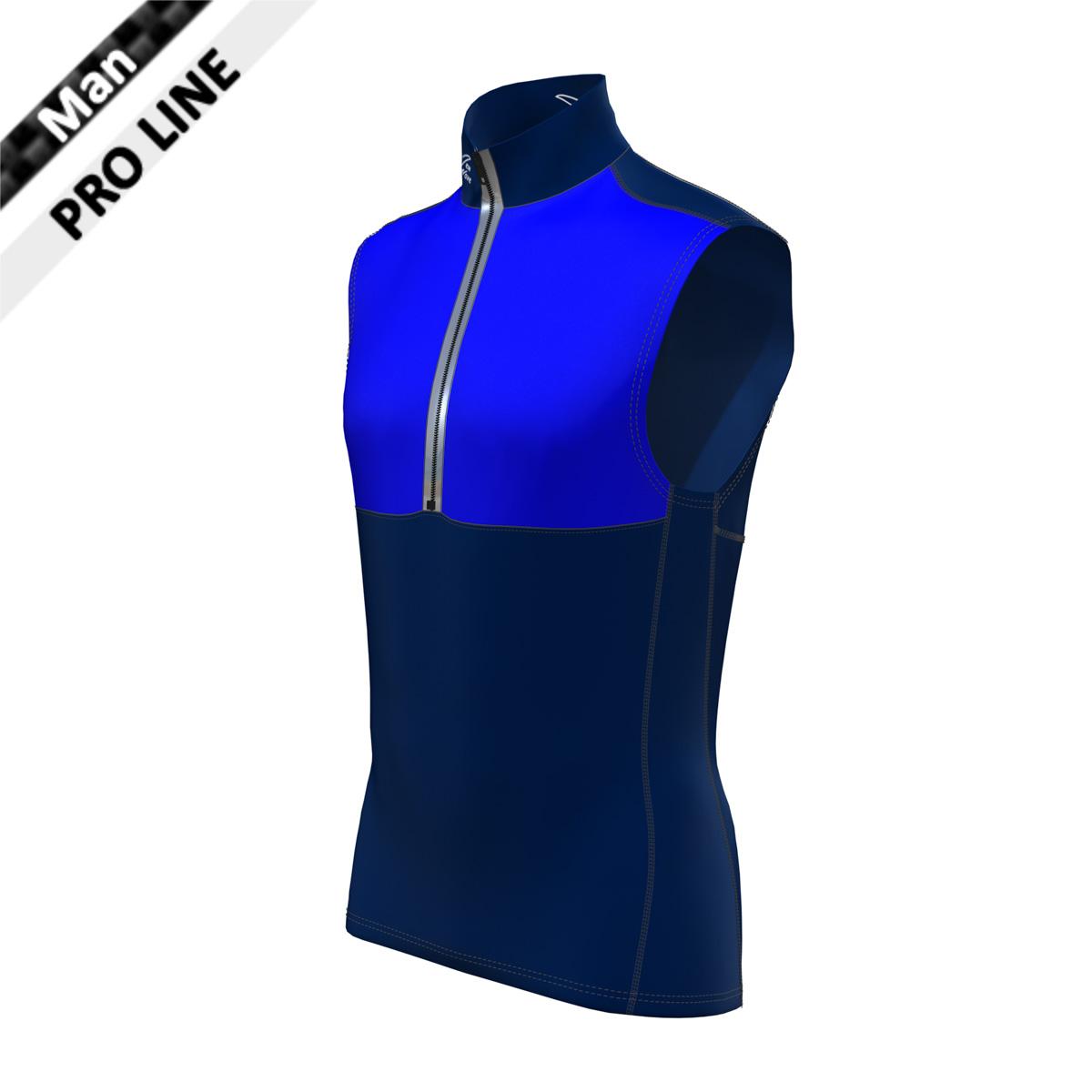 Pro Vest Man - marine / royal  (Kragen, Bauch, Rücken, Seitenstreifen - marine; Brust royal)
