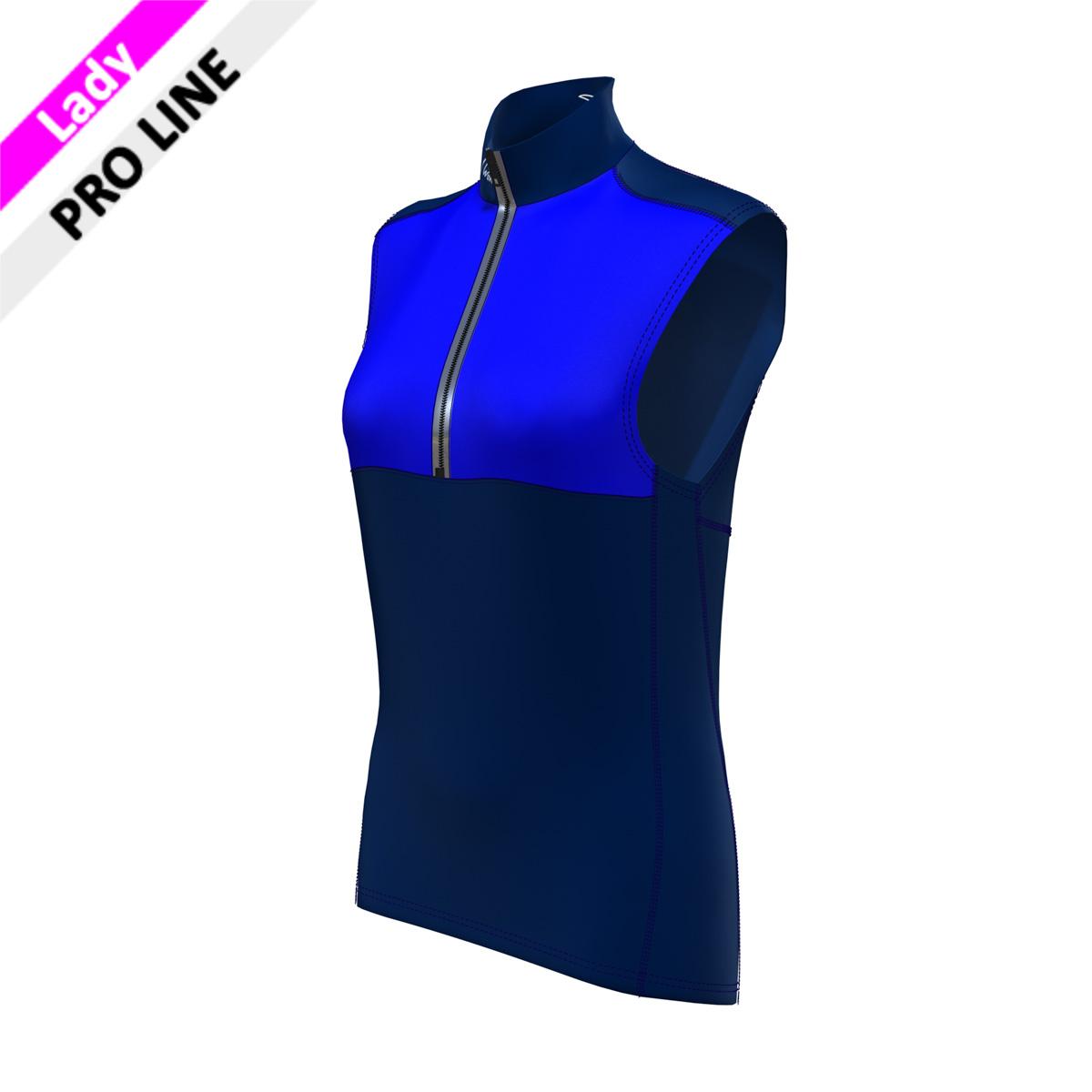 Pro Vest Lady - navy / royal  (Kragen, Bauch, Rücken, Seitenstreifen - marine; Brust royal)