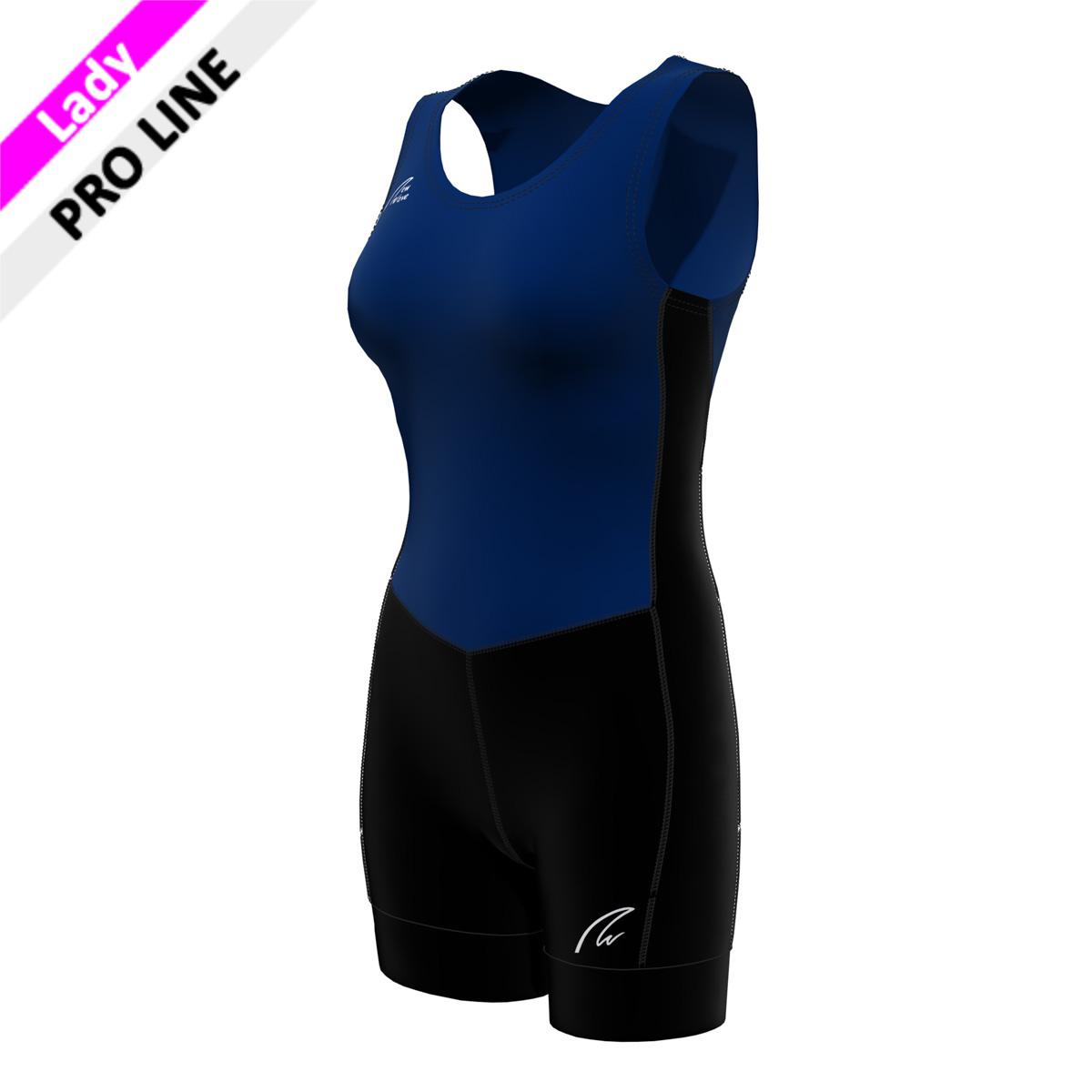 Pro Suit Lady - schwarz / marine  (Hose, Nierenstück, Seitenstreifen - schwarz; Body vorn und hinten - marine)