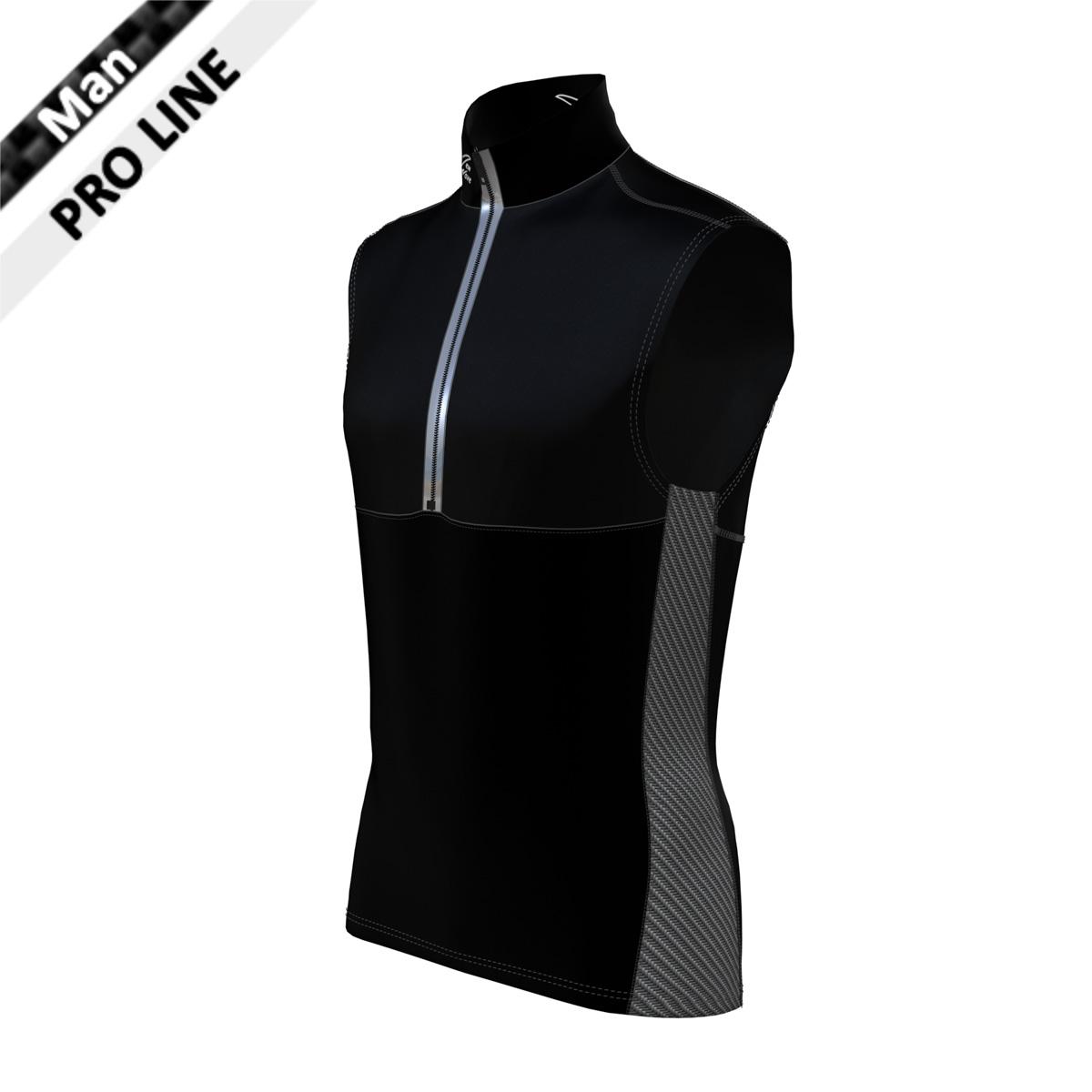 Pro Vest Man - Black/Carbon (Kragen & Body - schwarz, Seitenstreifen - carbon)