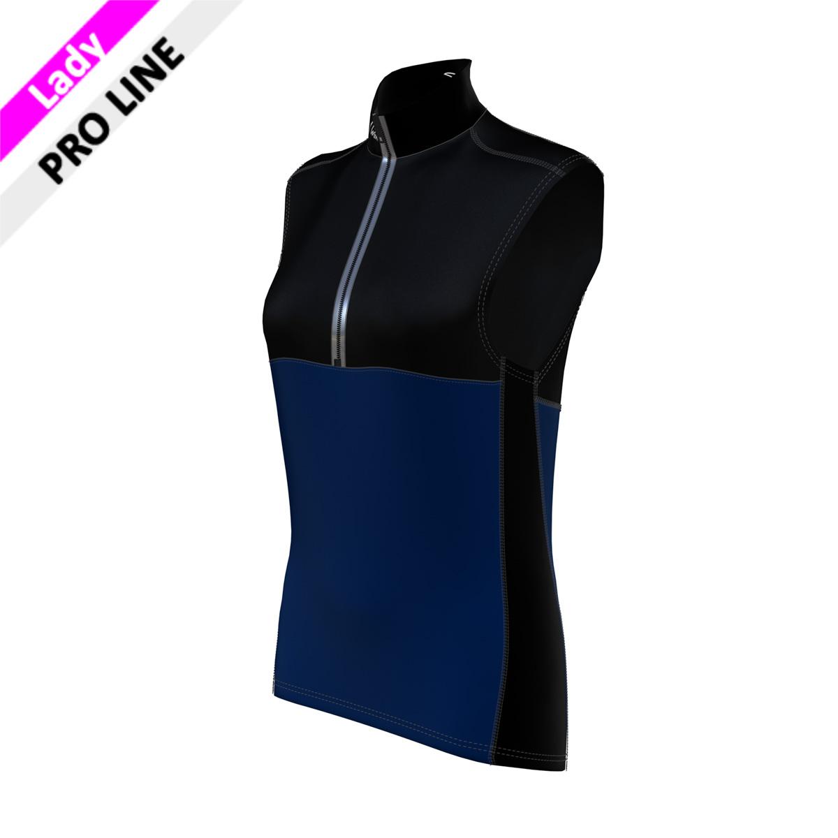 Pro Vest Lady - Black/Navy (Kragen, Brust, Rücken oben, Seitenstreifen-schwarz/Bauch & Rücken unten-marine)