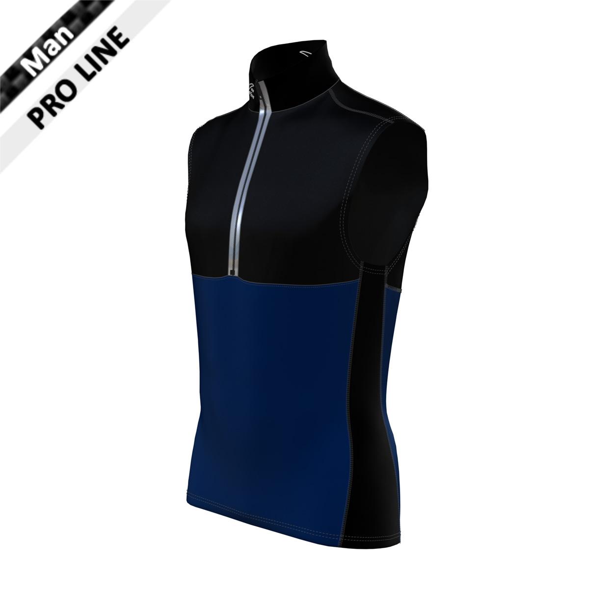 Pro Vest Man - Black/Navy (Kragen, Brust, Rücken oben, Seitenstreifen-schwarz/Bauch & Rücken unten-marine)