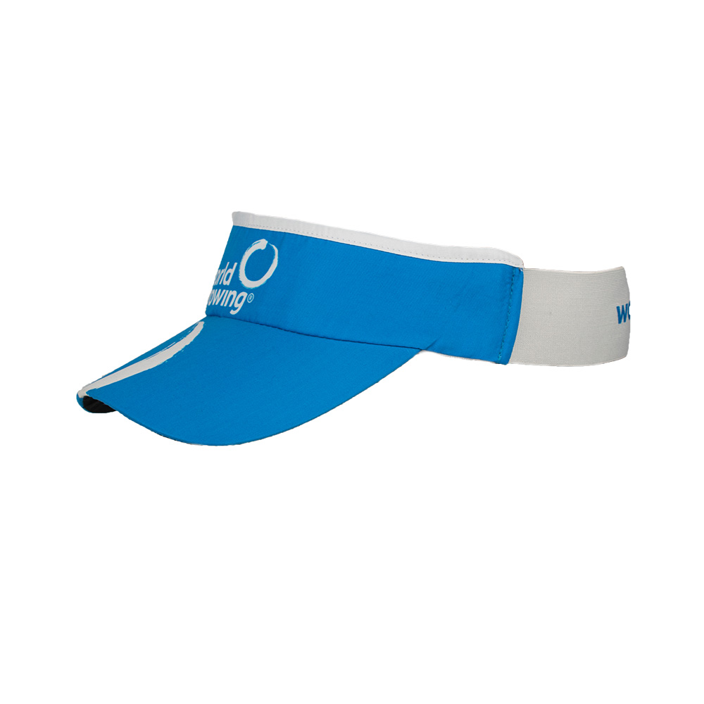 World Rowing Stretchy Sunvisor - turquoise