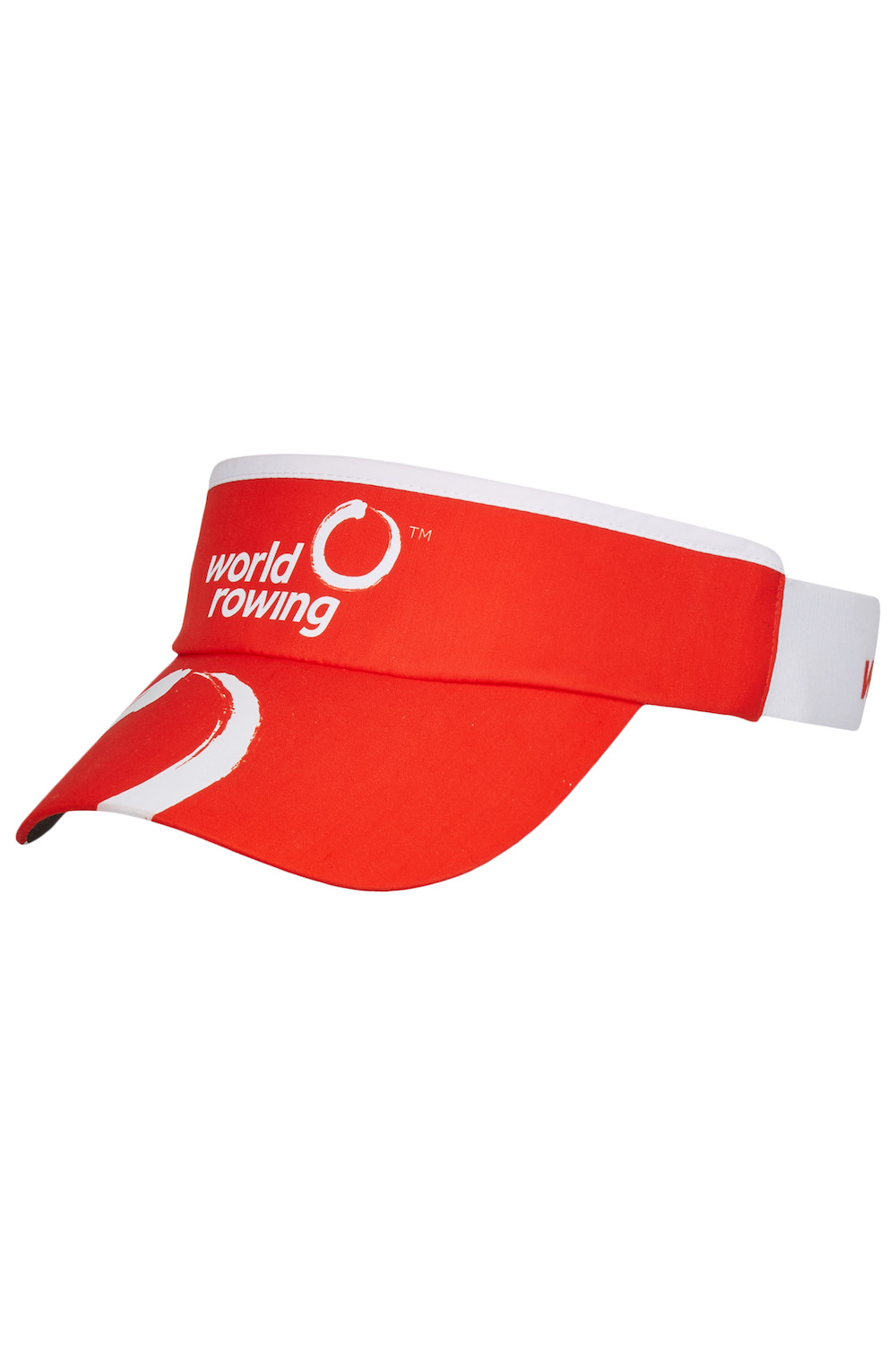 World Rowing Stretchy Sunvisor - red
