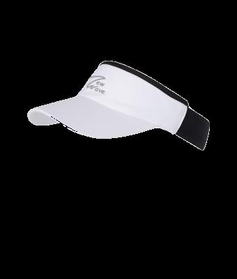NW Stretchy Sunvisor weiß; NW 3D Logo grau