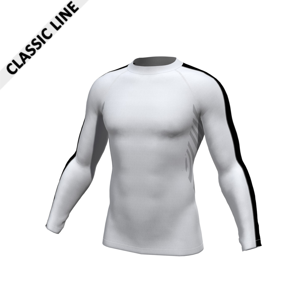 2skin Longsleeve white/black; Body white, Armstripe black