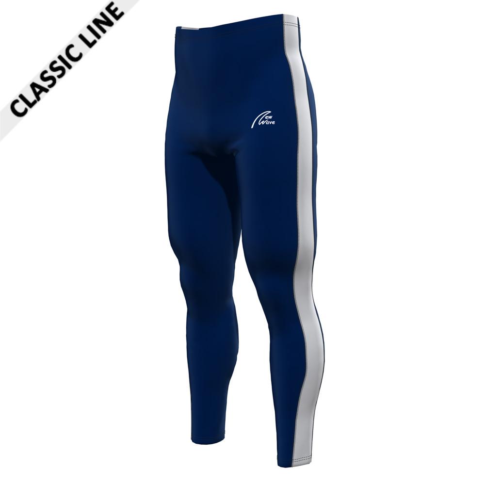 Rowing Sport Leggings - Navy; Pants navy / Sidestripe white
